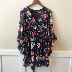 NWT Betsey Johnson Floral Print Boho Dress